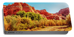 Getting The Sun In Canyon De Chelly Portable Battery Charger by Dr Bob Johnston