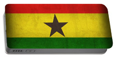 Ghana Flag Distressed Vintage Finish Portable Battery Charger