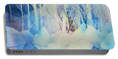 Portable Battery Charger featuring the painting Ghost Forest by Teresa Ascone