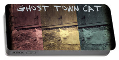 Ghost Town Cat Portable Battery Charger by Absinthe Art By Michelle LeAnn Scott