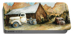 Ghost Town Nevada - Western Art Painting Portable Battery Charger