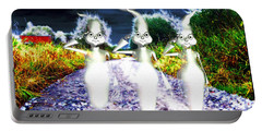 Portable Battery Charger featuring the digital art Ghosts by Daniel Janda