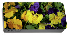 Giant Garden Pansies Portable Battery Charger