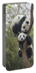 Giant Panda Cubs Playing Chengdu Portable Battery Charger