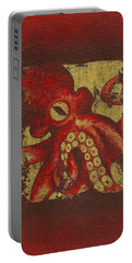 Giant Red Octopus Portable Battery Charger