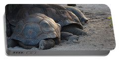 Portable Battery Charger featuring the photograph Giant Tortise by Robert Meanor