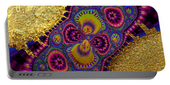 Gilded Fractal 3  Portable Battery Charger