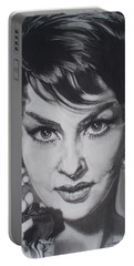 Gina Lollobrigida Portable Battery Charger by Sean Connolly
