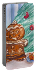 Gingerbread Cookies Portable Battery Charger by Victoria Lakes