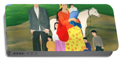 Gipsy Family, 1986 Oil On Canvas Portable Battery Charger