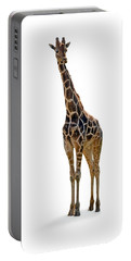 Portable Battery Charger featuring the photograph Giraffe by Charles Beeler
