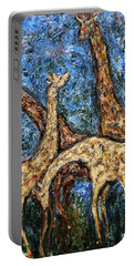 Giraffe Family Portable Battery Charger by Xueling Zou