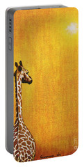 Giraffe Looking Back Portable Battery Charger by Jerome Stumphauzer