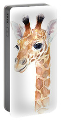 Giraffe Watercolor Portable Battery Charger