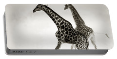 Giraffes Fleeing Portable Battery Charger