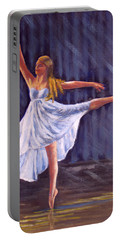 Girl Ballet Dancing Portable Battery Charger