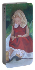 Girl In The Garden Portable Battery Charger