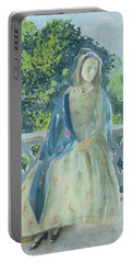 Girl On Balcony, 1900 Portable Battery Charger