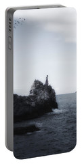 Girl On Cliffs Portable Battery Charger by Joana Kruse