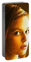 Portable Battery Charger featuring the painting Girl Sans by Richard Thomas