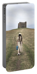 Girl Walks To A Chapel Portable Battery Charger