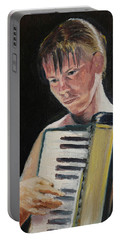 Girl With Accordion Portable Battery Charger