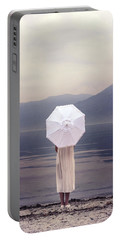 Girl With Parasol Portable Battery Charger