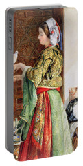 Girl With Two Caged Doves, Cairo, 1864 Portable Battery Charger