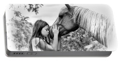 Girls And Their Horses Portable Battery Charger