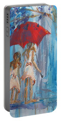 Give Me Shelter Portable Battery Charger by Terri Einer