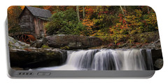 Glade Creek Grist Mill - Photo Portable Battery Charger by Chris Flees