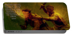 Portable Battery Charger featuring the photograph Gladiator  by Brian Reaves
