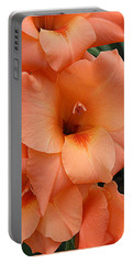 Gladiola In Peach Portable Battery Charger