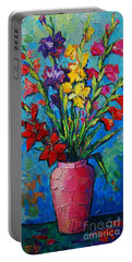Gladioli In A Vase Portable Battery Charger