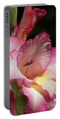 Gladiolus In Pink Portable Battery Charger