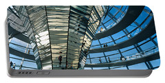 Glass Dome Reichstag Berlin Germany Portable Battery Charger by Panoramic Images