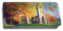 Glastonbury Abbey Fall Portable Battery Charger by Jane Small