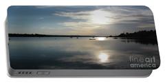 Glenmore Reservoir Calm Portable Battery Charger by Stuart Turnbull