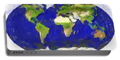 Global Map Painting Portable Battery Charger by Georgi Dimitrov