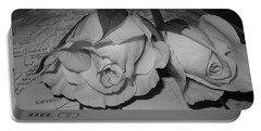 Portable Battery Charger featuring the photograph Global Monochrome Roses by Sandra Foster