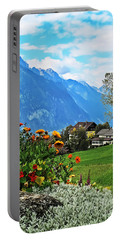 Glorious Alpine Meadow Portable Battery Charger