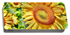 Portable Battery Charger featuring the photograph Glorious Sunflowers by Kim Bemis
