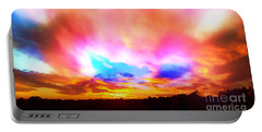 Glory Sunset Portable Battery Charger by Patricia L Davidson