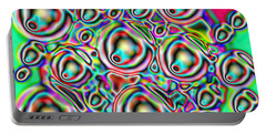 Portable Battery Charger featuring the digital art Glow. Colorful Design by Oksana Semenchenko