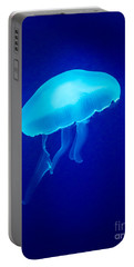 Glowing Blue Jellyfish Portable Battery Charger