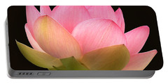 Glowing Lotus Square Frame Portable Battery Charger by Byron Varvarigos