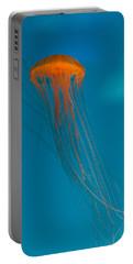 Glowing Orange Sea Nettle Portable Battery Charger