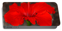 Glowing Red Hibiscus Portable Battery Charger