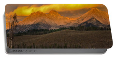 Glowing Sawtooth Mountains Portable Battery Charger
