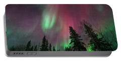 Glowing Skies Textured Portable Battery Charger